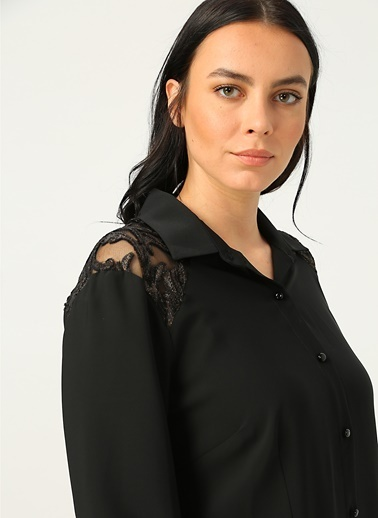 Selen Gömlek Siyah